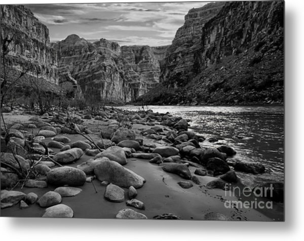 Black And White View Of The Grand Metal Print