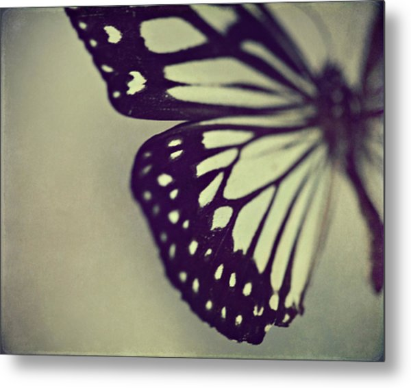 Black And White Wings Metal Print