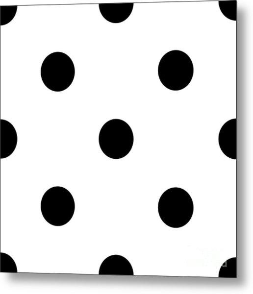 Black Dots On A White Background- Ddh610 Metal Print