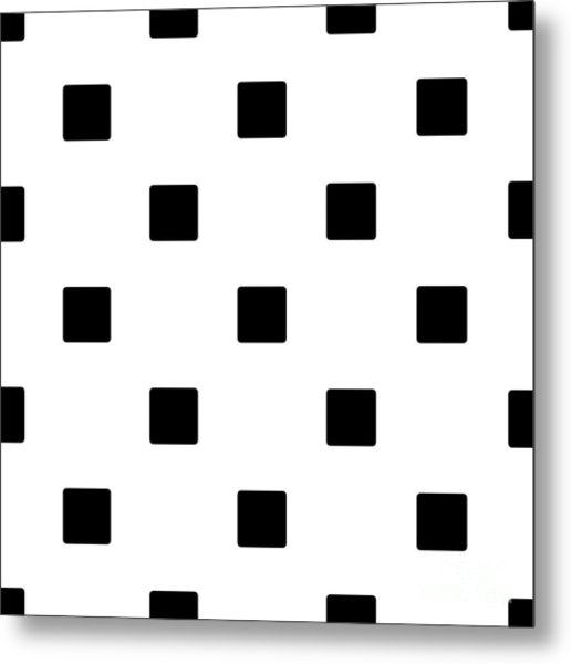 Black Squares On A White Background- Ddh574 Metal Print