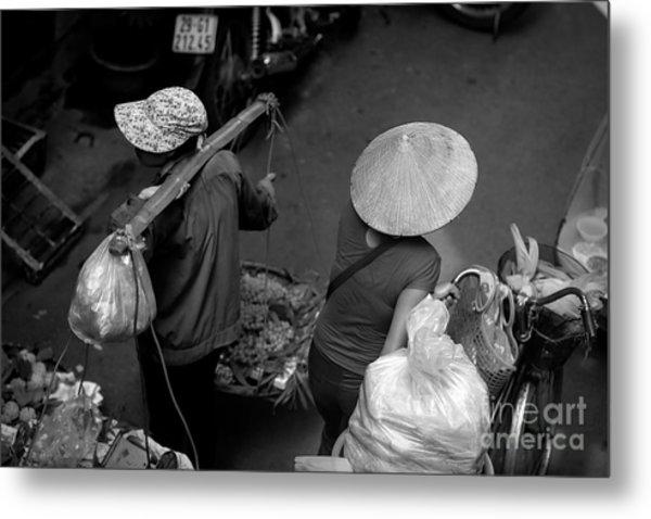 Black White 3 Of 4 Hanoi  Metal Print