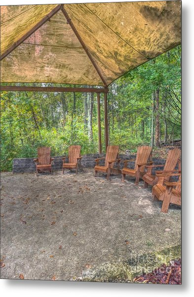 Blacklick Woods - Chairs Metal Print