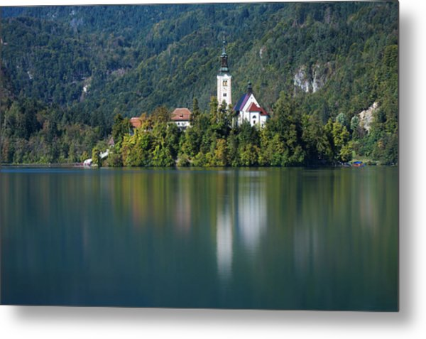 Metal Print featuring the photograph Bled Island by Davor Zerjav