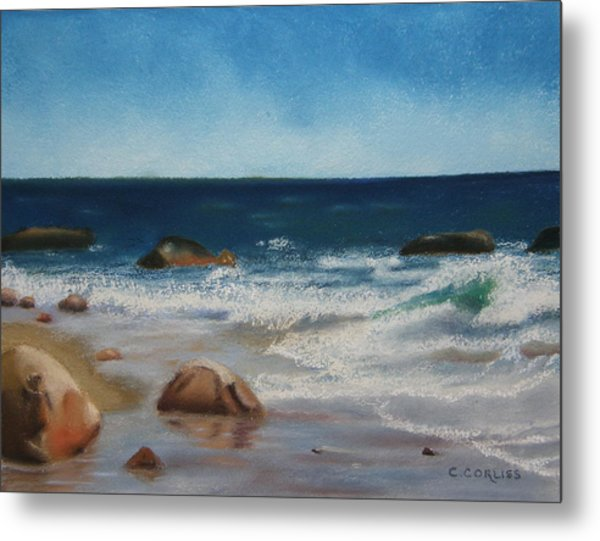 Block Island Surf Metal Print