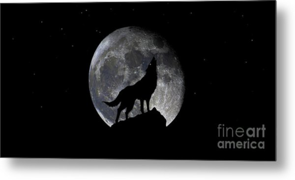 Pre Blood Red Wolf Supermoon Eclipse 873r Metal Print