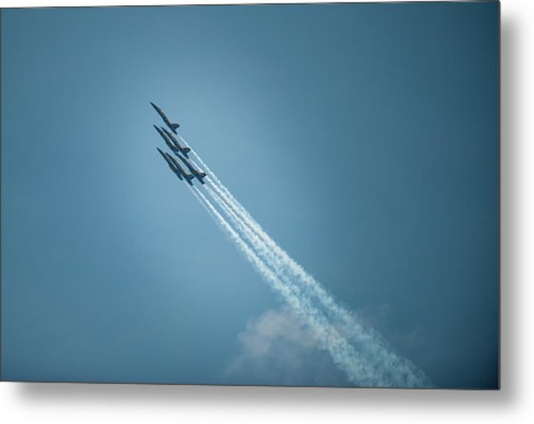 Metal Print featuring the photograph Blue Angel Rockets by Mark Duehmig