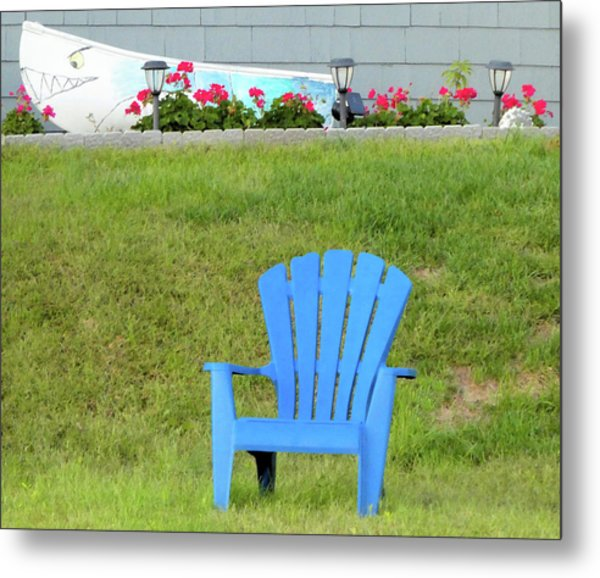 Blue Chair Metal Print