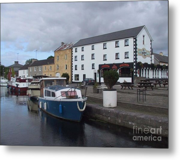 Metal Print featuring the painting Richmond Harbour  In Cloondara, Co Longford by Val Byrne