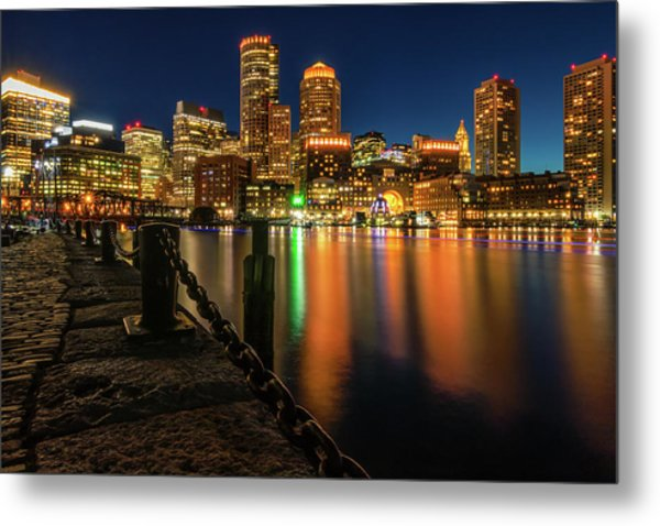 Blue Hour At Boston's Fan Pier Metal Print