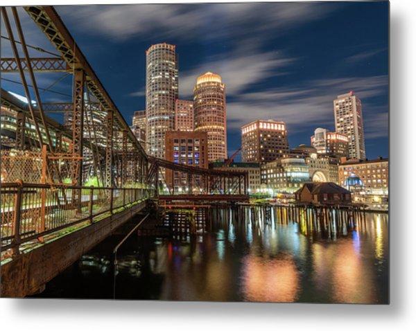 Blue Hour In Boston Harbor Metal Print