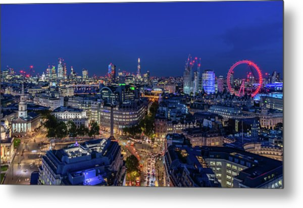 Metal Print featuring the photograph Blue Hour In London by Stewart Marsden