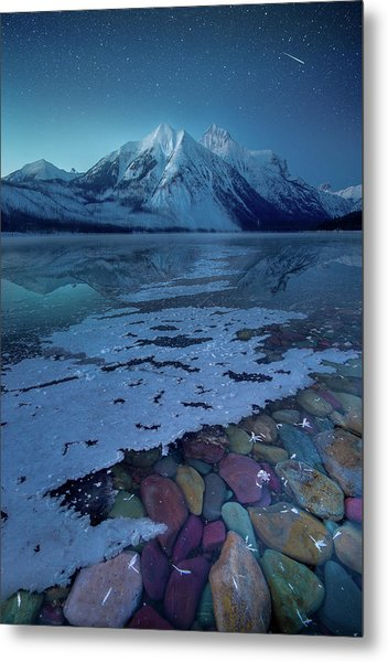 Blue Hour / Lake Mcdonald, Glacier National Park  Metal Print