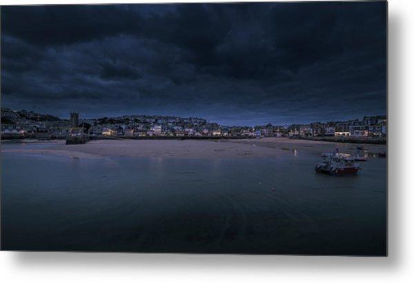 Blue Hour - St Ives Cornwall Metal Print