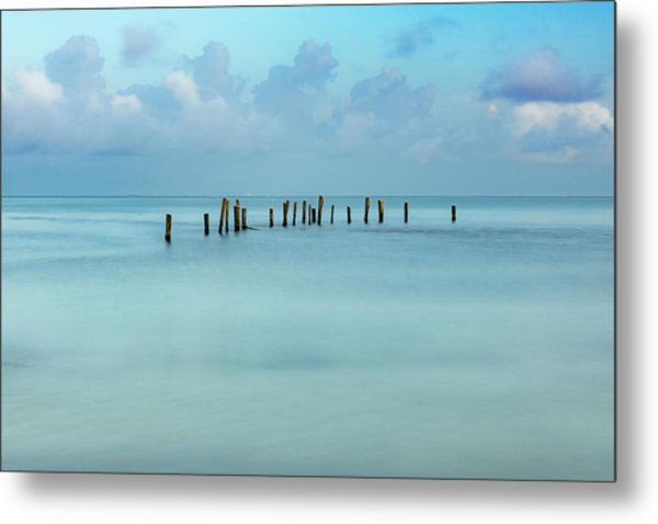 Blue Mayan Sea Metal Print
