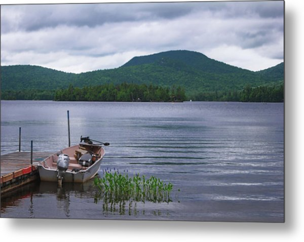 Blue Mountain Lake Metal Print