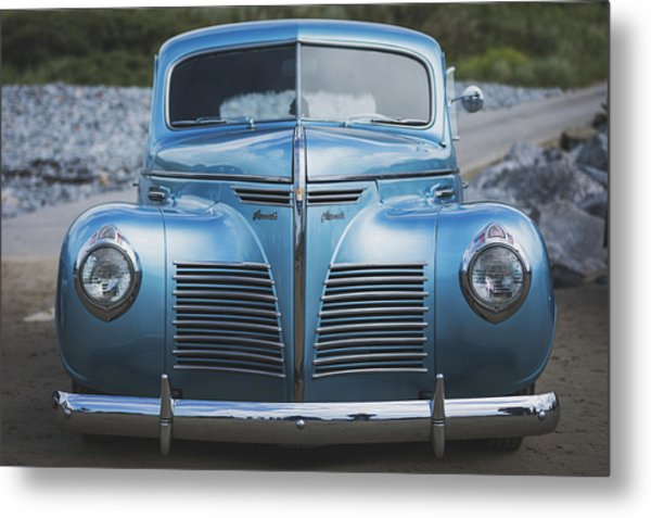 Metal Print featuring the photograph Blue Plymouth by Elliott Coleman
