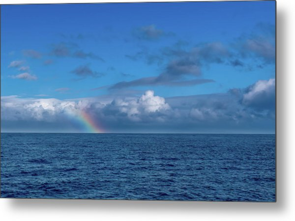 Blue Rainbow Horizon Metal Print
