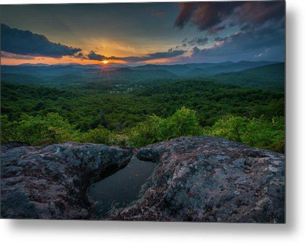 Blue Ridge Mountain Sunset Metal Print