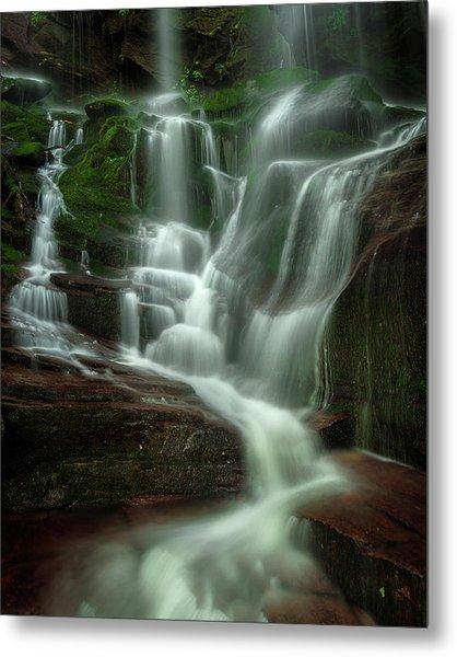 Blue Ridge Mountains Cascade Metal Print