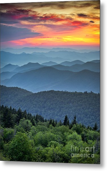 Blue Ridge Parkway Scenic Landscape Metal Print
