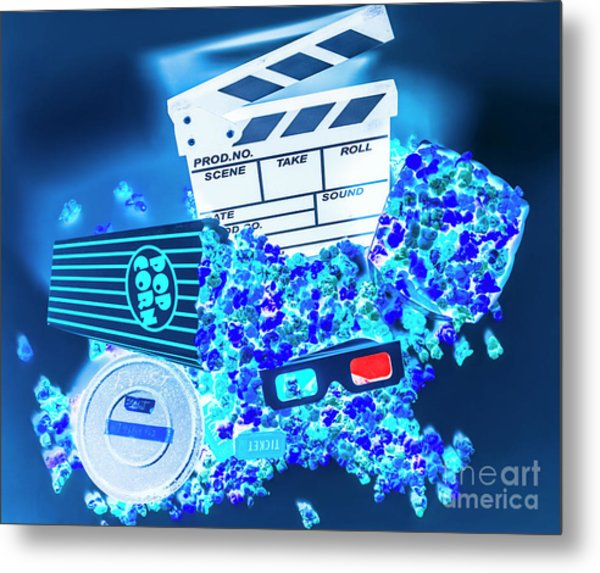 Blue Screen Entertainment Metal Print