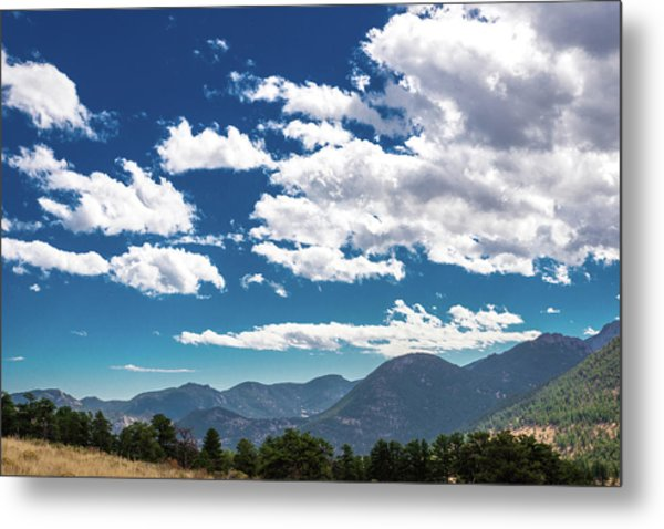 Metal Print featuring the photograph Blue Skies And Mountains II by James L Bartlett