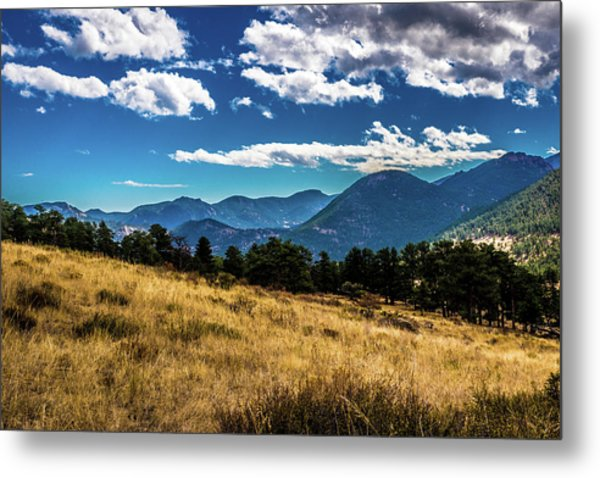Metal Print featuring the photograph Blue Skies And Mountains by James L Bartlett