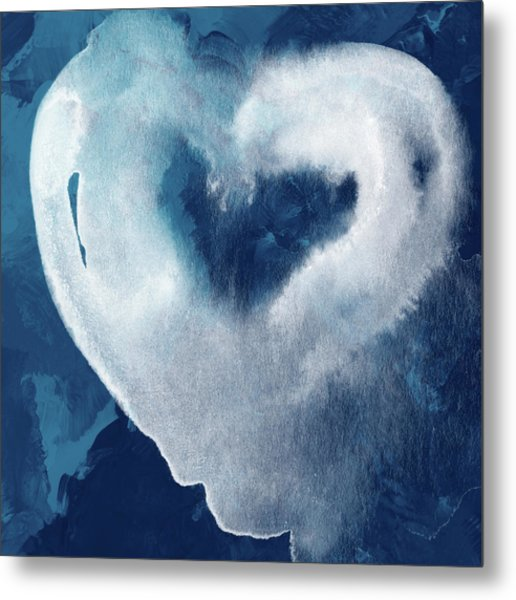 Blue Valentine- Art By Linda Woods Metal Print