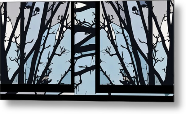 Blues - Barely Spring Abstract - Metal Print