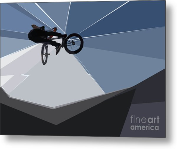 Bmx Biking  Metal Print