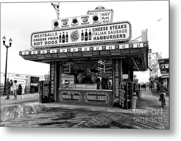 Boardwalk Comfort Food Seaside Heights Metal Print