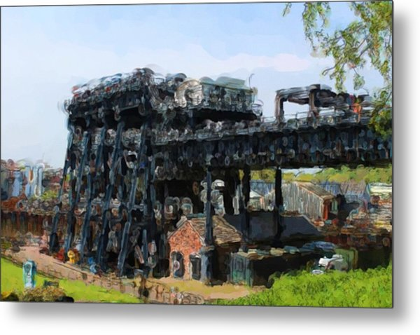 Boat Lift Metal Print