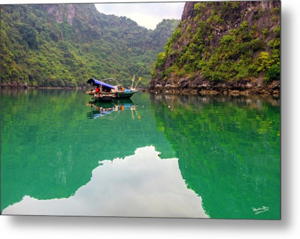 Boat On Halong Bay 2, Vietnam Metal Print