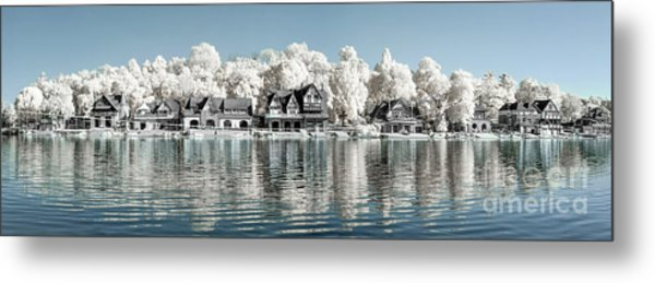 Boathouse Row Infrared Metal Print by Stacey Granger