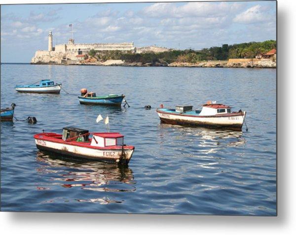 Boats In The Harbor Havana Cuba 112605 Metal Print