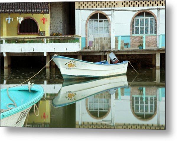 Boats On Still Lagoon Metal Print by Blind Dog Photo Dan Gair