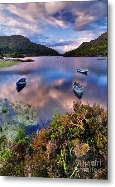 Boats On Water In Killarney National Metal Print