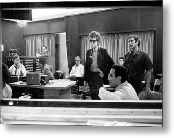 Bob Dylan Records Highway 61 Revisited Metal Print