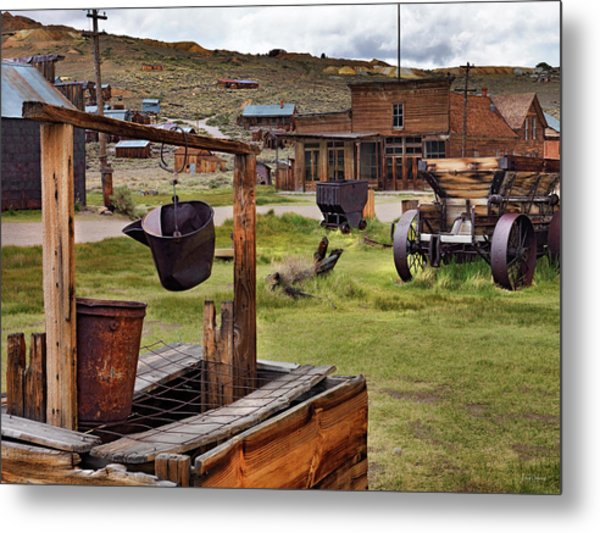 Bodie Ghost Town Metal Print by Leland D Howard
