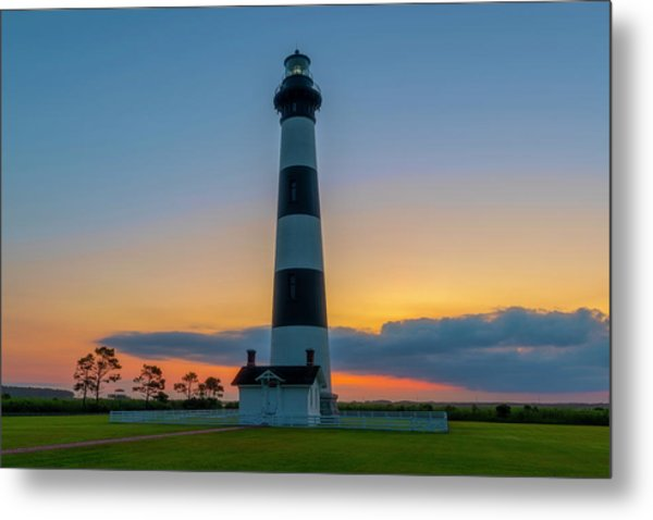 Bodie Island Lighthouse, Hatteras, Outer Bank Metal Print