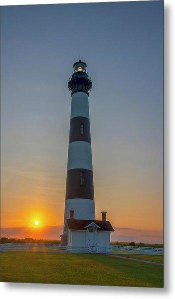 Bodie Island, Sunrise, Obx Metal Print