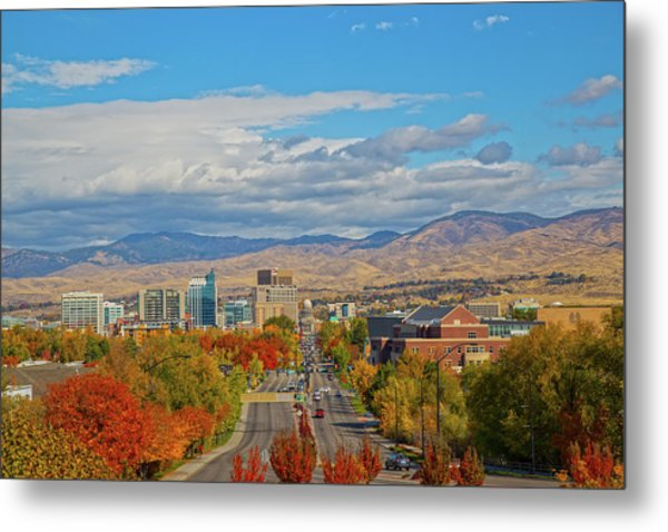 Metal Print featuring the photograph Boise In Fall by Dart and Suze Humeston