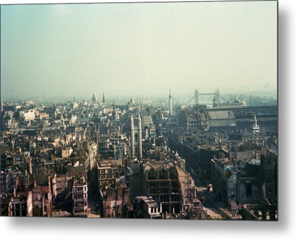 Bomb Site Metal Print by Frank J. Galloon