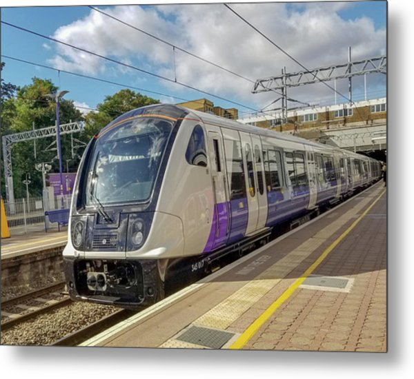 Bombardier Class 345 Aventra Commuter Train At Ealing Broadway Station London England Metal Print