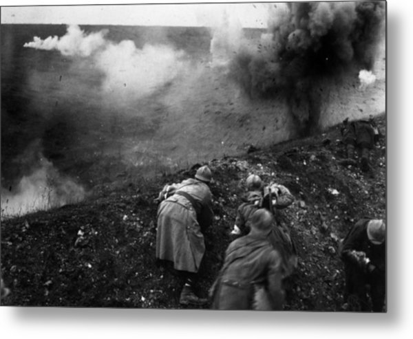 Bombardment Metal Print by General Photographic Agency