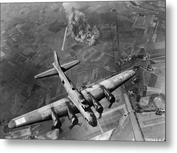 Bombing Run Metal Print by Hulton Archive