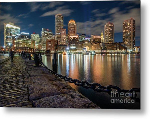 Boston At Blue Hour Metal Print