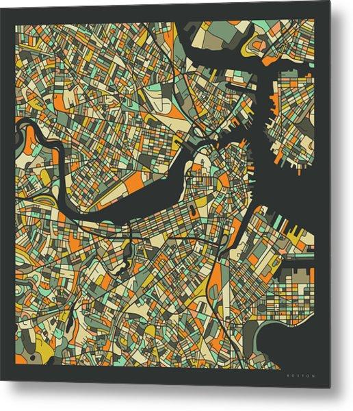 Boston Map 2 Metal Print