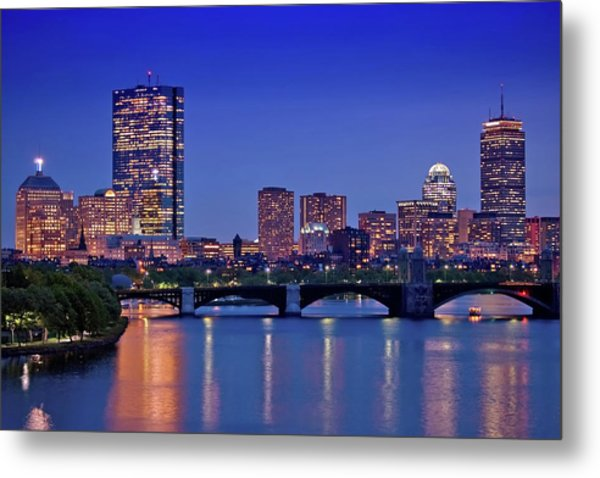 Boston Nights 2 Metal Print