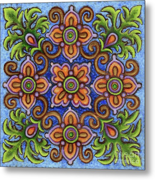 Botanical Mandala 1 Metal Print